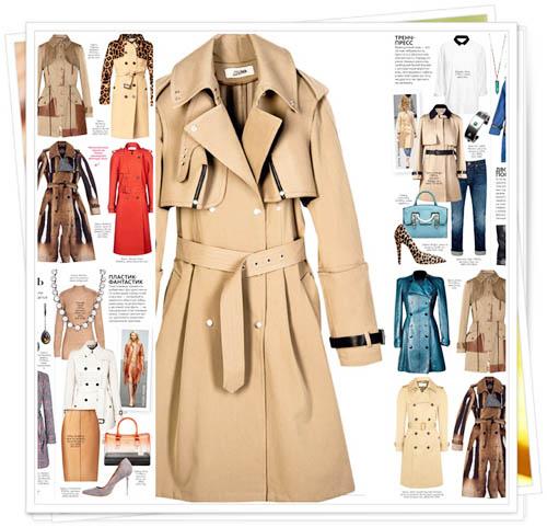 модные плащи весна-лето 2014 классические