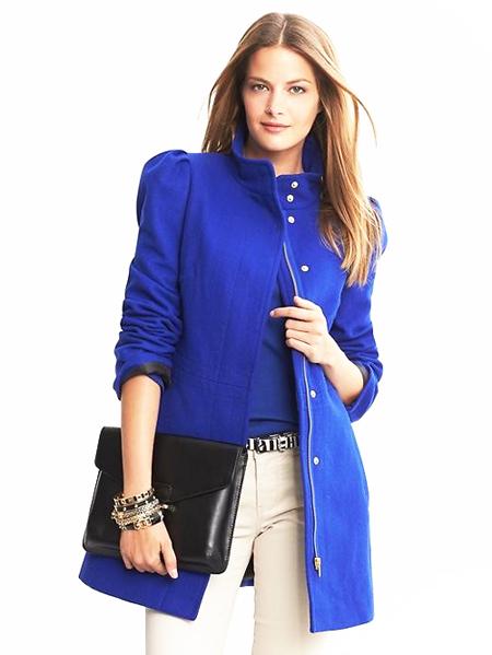 модные плащи весна-лето 2014 синие