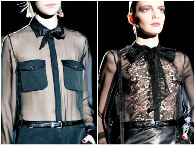 модные шифоновые чёрные блузы
