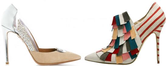 туфли со вставками