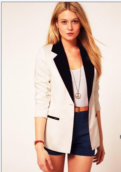с чем носить пиджак белый