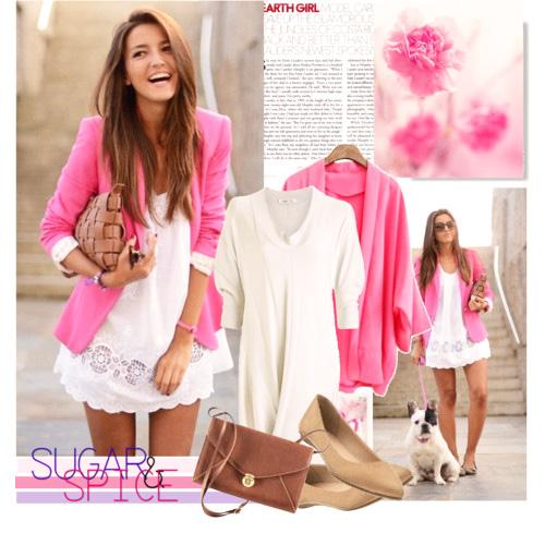 с чем носить пиджак розовый