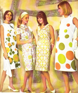 винтажная одежда 60-х