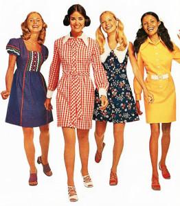 винтажные платья с принтами