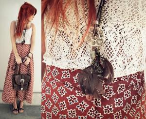 винтажный стиль в одежде геометрический принт