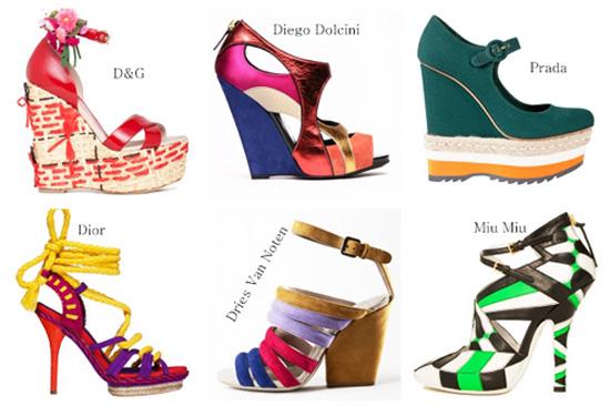 модная летняя обувь 2014 цветная