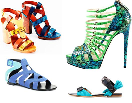 модная летняя обувь 2014 двухцветная