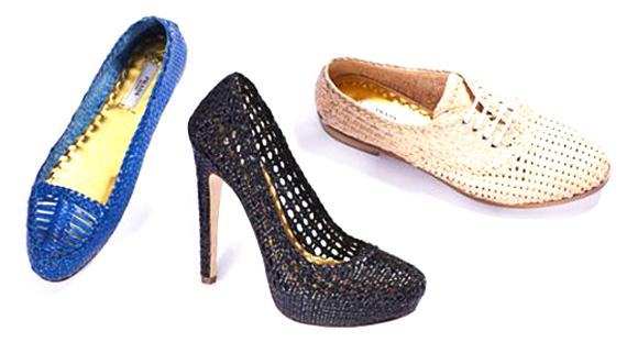 модная летняя обувь 2014 плетенные туфли