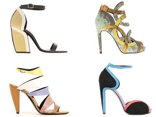 модная летняя обувь 2014 тонкий каблук
