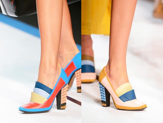 модная летняя обувь 2014 трехцветная