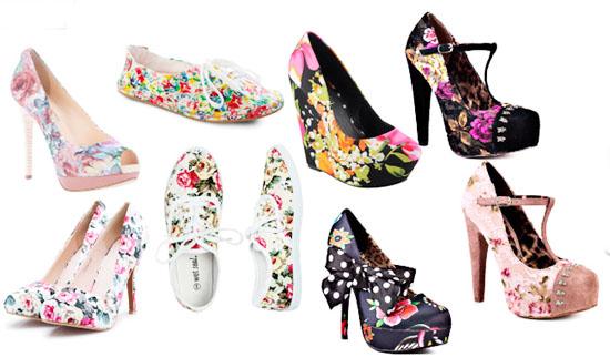 модная летняя обувь 2014 в цветочек