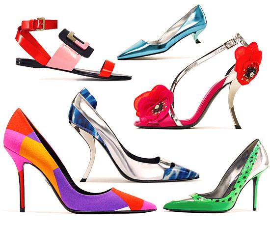 модная летняя обувь 2014 яркая