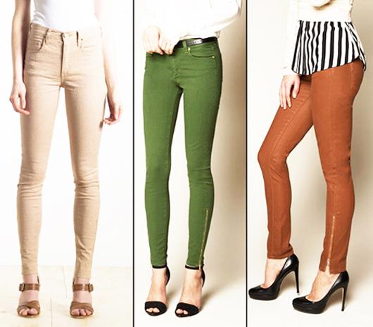 модные джинсы 2014 цветные