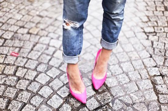 модные джинсы 2014 с каблуками