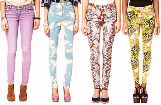 модные джинсы 2014 с принтами