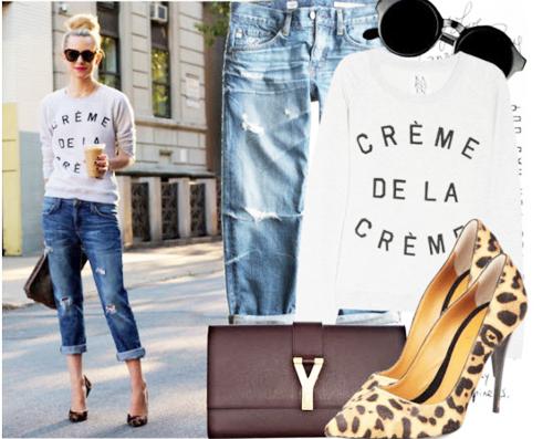 модные джинсы 2014 укороченные рваные