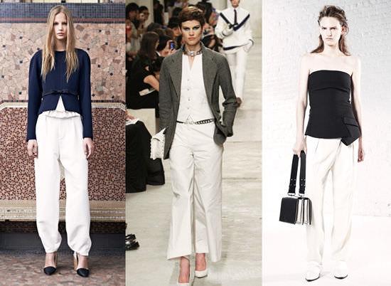модные широкие брюки 2014 белые