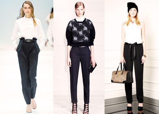 модные широкие брюки 2014 черные