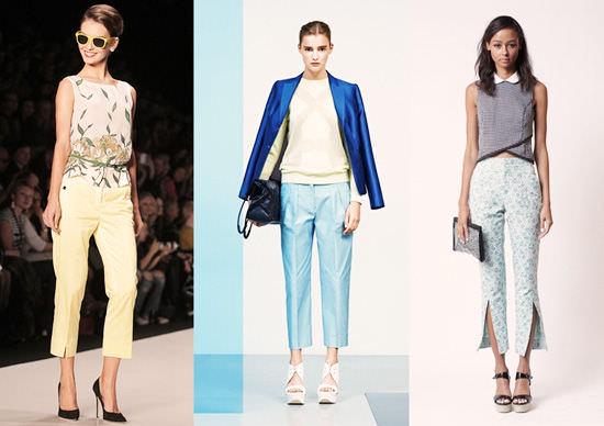 модные широкие брюки 2014 нежные