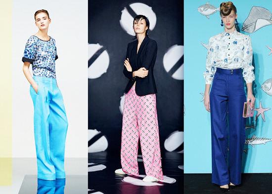модные широкие брюки 2014 от бедра