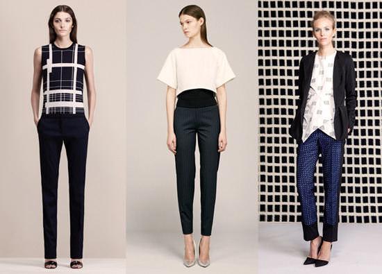 модные широкие брюки 2014 строгие