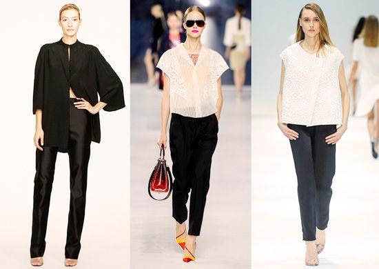 модные широкие брюки 2014 укороченные