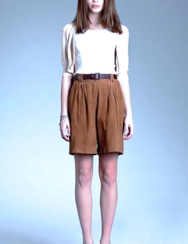 модные шорты лето 2014 кофейного цвета