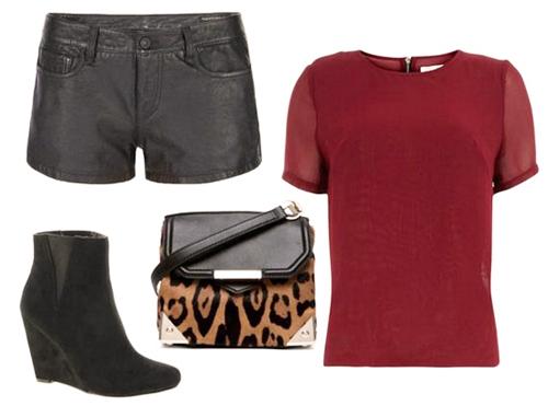 модные шорты лето 2014 кожаные