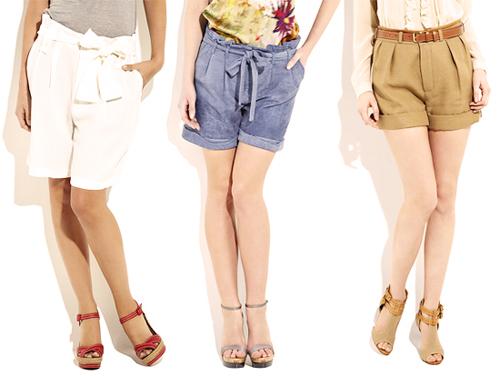 модные шорты лето 2014 с завышенной талией