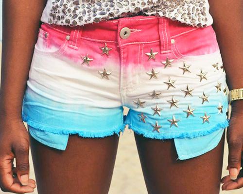 модные шорты лето 2014 украшенные звездочками