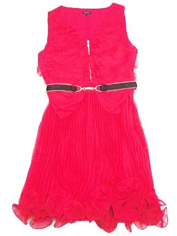красное платье 2014 алое короткое