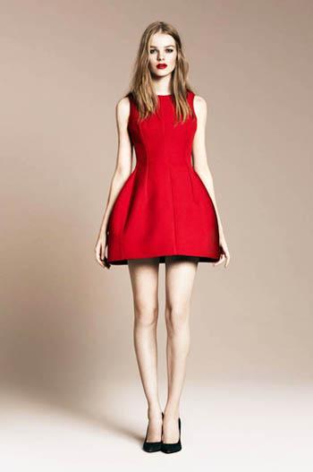 красное платье 2014 красивое