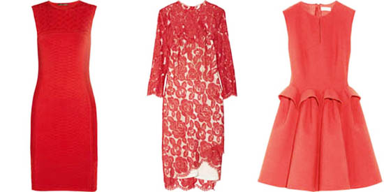 красное платье 2014 модное