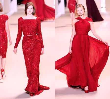 красное платье 2014 нарядное