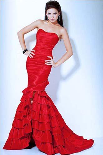 красное платье 2014 русалка