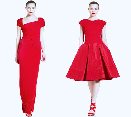 красное платье 2014 вечернее