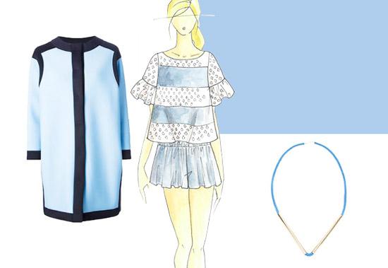 Модные цвета лето 2014 голубой