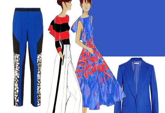 Модные цвета лето 2014 насыщенный синий