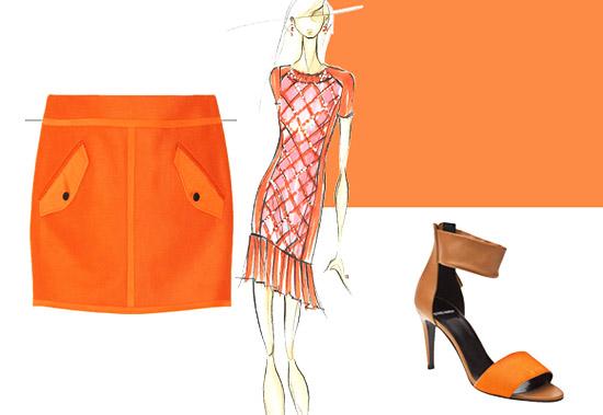 Модные цвета лето 2014 оранжевый