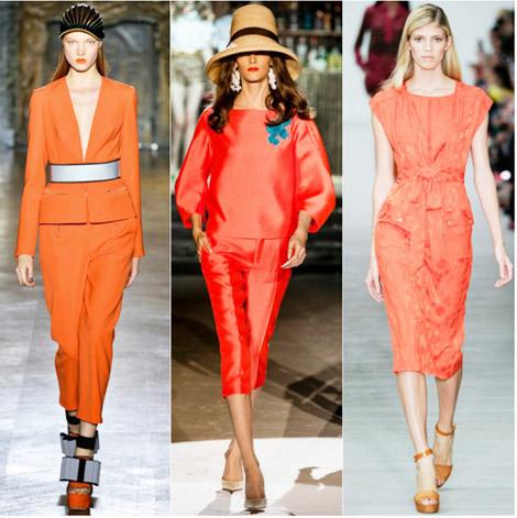 Модные цвета лето 2014 оранжевая целозия