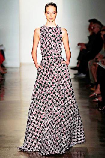 модные сарафаны лето 2014 длинные с узором
