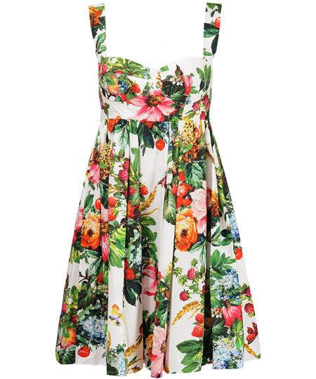 модные сарафаны лето 2014 цветочный принт