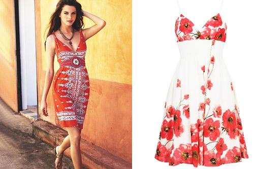 модные сарафаны лето 2014 в цветочек