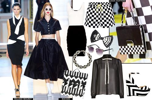модные тренды лета 2014 монохромность