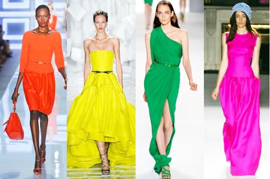 модные тренды лета 2014 неоновые цвета