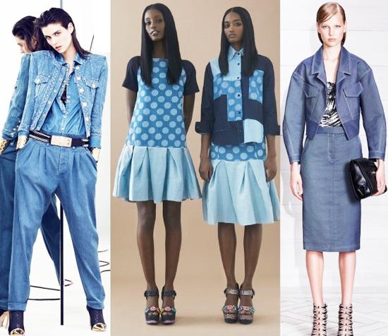модные тренды лета 2014 одежда из денима