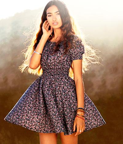 модные тренды лета 2014 платья в цветочек