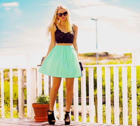 модные юбки лето 2014 короткие яркие