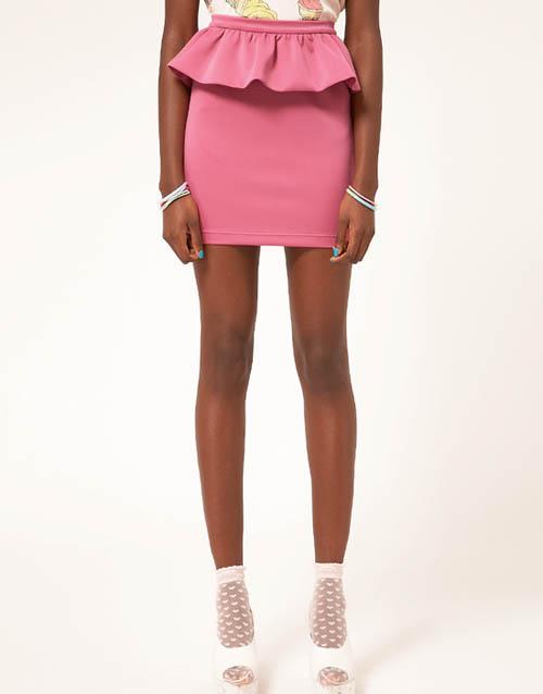 модные юбки лето 2014 пеплум