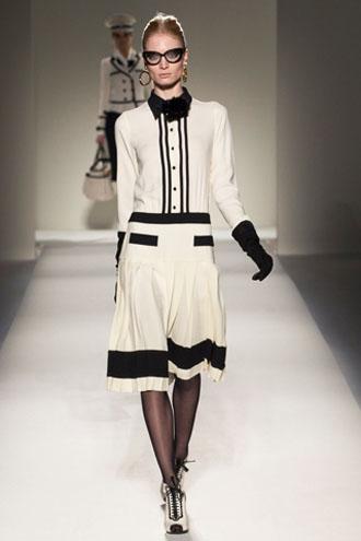 офисная одежда бело-черное